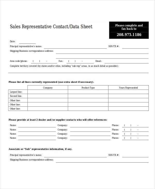 9+ Sales Sheet Templates - Free Sample, Example Format Download - sample sales sheet