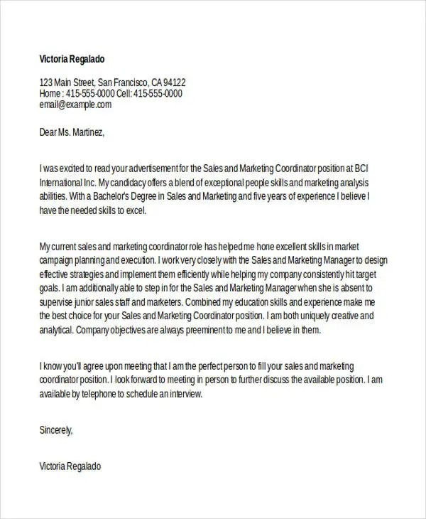 37 Simple Cover Letters Free  Premium Templates