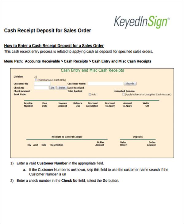 8+ Order Receipt Templates - Word, PDF Free  Premium Templates - customer receipt template
