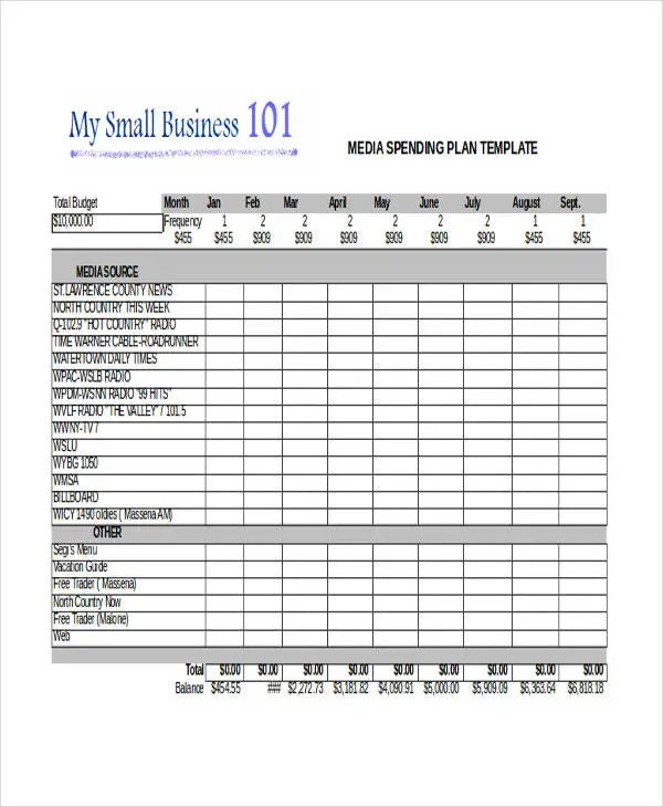17+ Plan Templates in Excel Free  Premium Templates