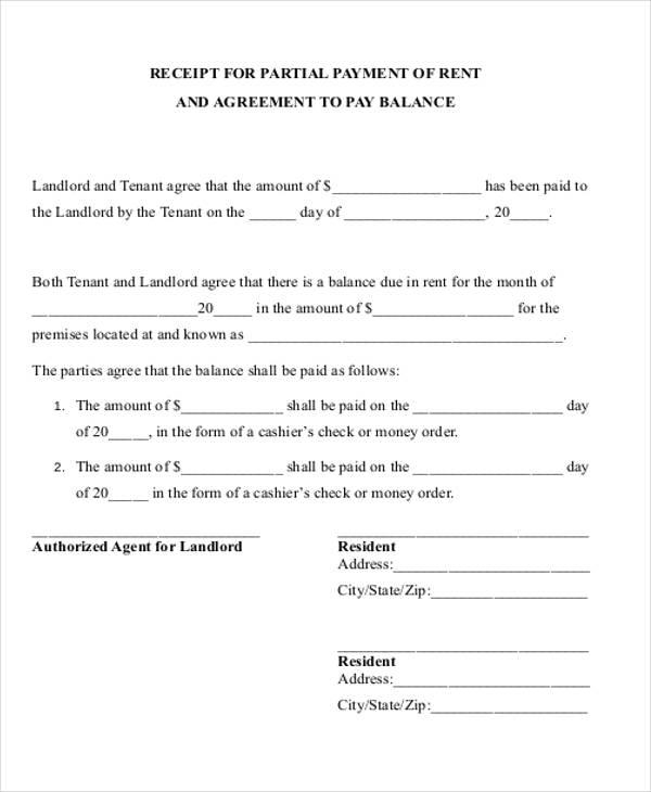 part payment receipt format - Militarybralicious - pay receipt form