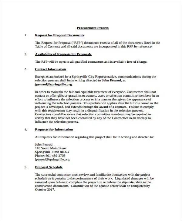 project proposal samples – Project Proposal Template Free