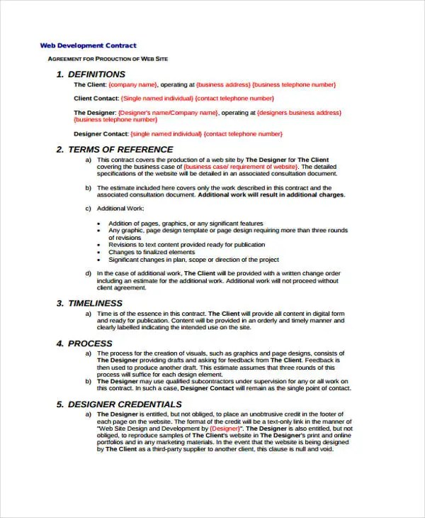 Development Contract Templates - 8+ Free PDF, Format Download Free