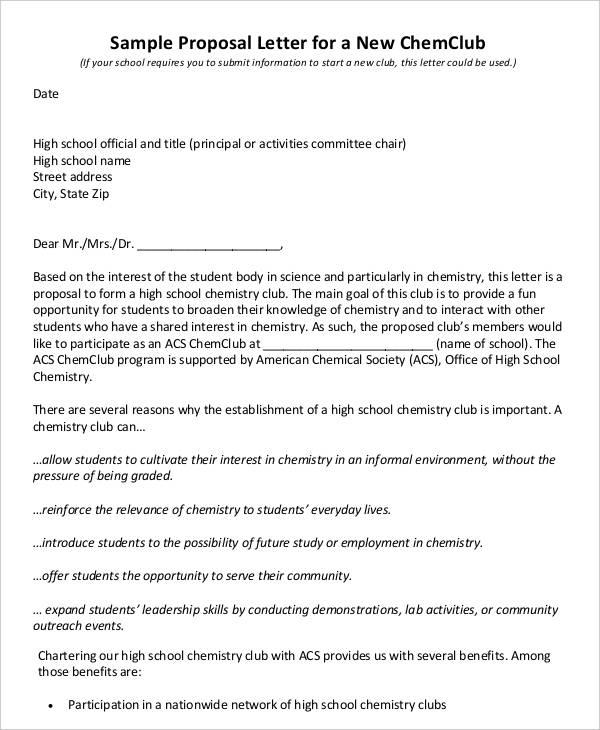 29+ Proposal Letter Templates Free \ Premium Templates - event proposal letters