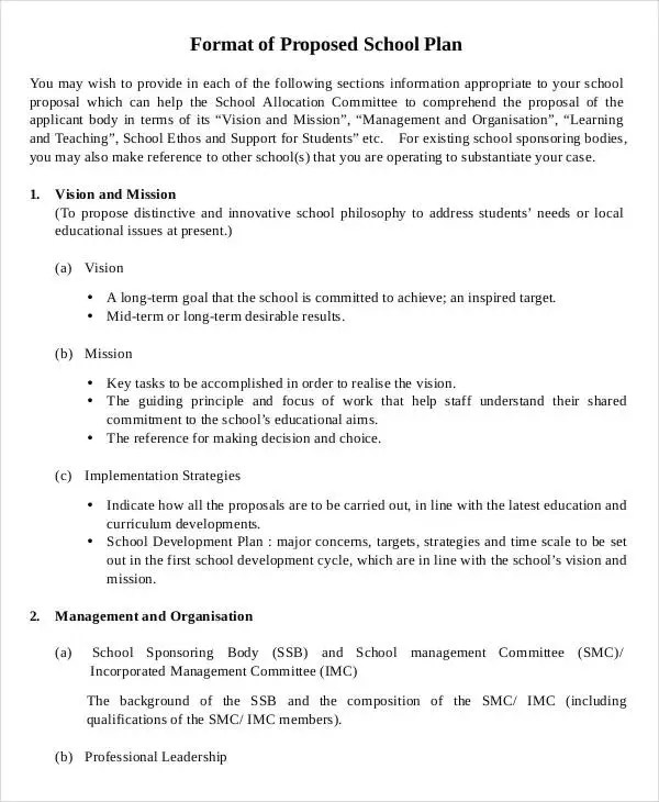 School Proposal Templates - 8+ Free PDF Format Download Free - proposal format