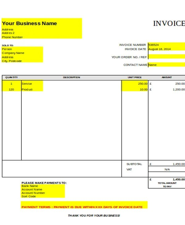 8+ Carpenter Invoice Templates - Free Sample, Example Format