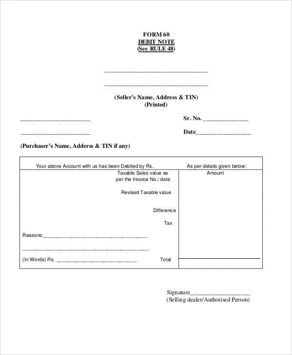 Debit Note Templates - 5+ Free Word, PDF Format Download Free
