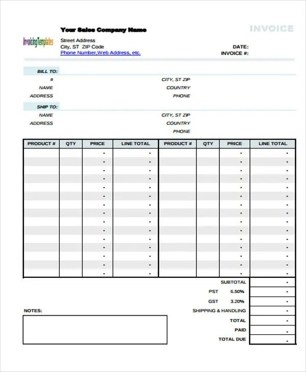9+ Simple Invoice Templates - Free Sample, Example Format Download