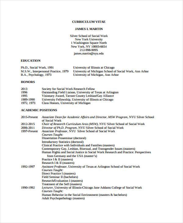 9+ Social Worker Resumes - Free Samples, Examples Format Download - social worker resume samples