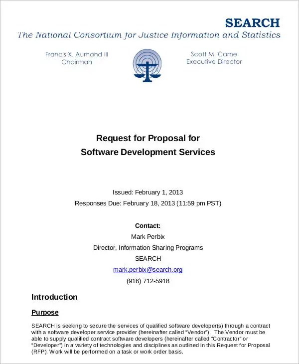 11 Request For Proposal Templates - Free Sample, Example Format