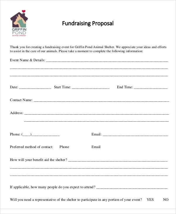 8 Fundraising Event Proposal Templates -Free Sample, Example Format