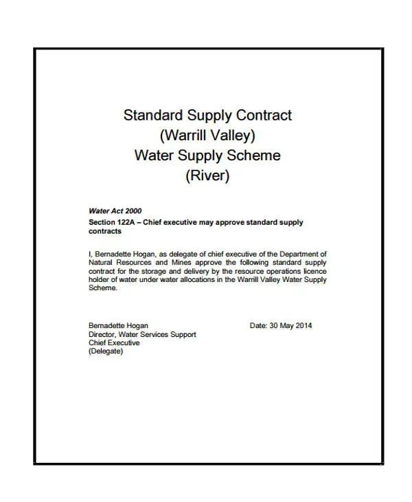 9+ Supply Contract Templates - Sample, Example Free  Premium