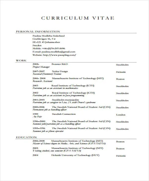7+ Summer Job Resume Templates - Free Samples, Examples Format - resume for summer job