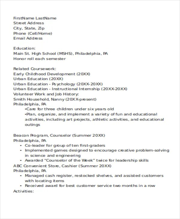 Resume For Lifeguard Lifeguard Resume Sample Writing Tips Resume - sample lifeguard resume