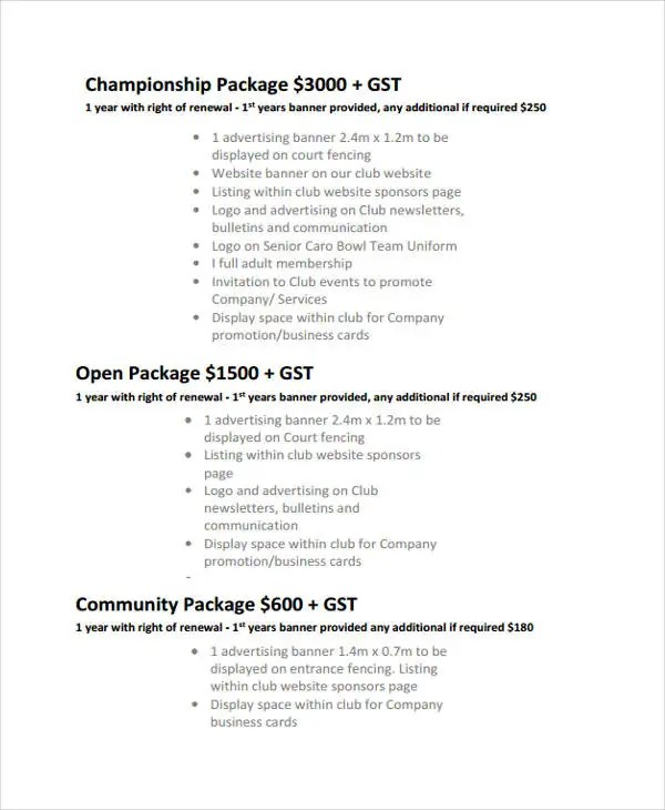 Sponsorship Proposal Template Event Sponsorship Proposal Sample - non profit proposal template