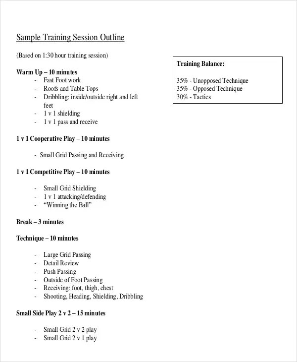 8 Training Outline Templates - Free Sample, Example Format - training outline template