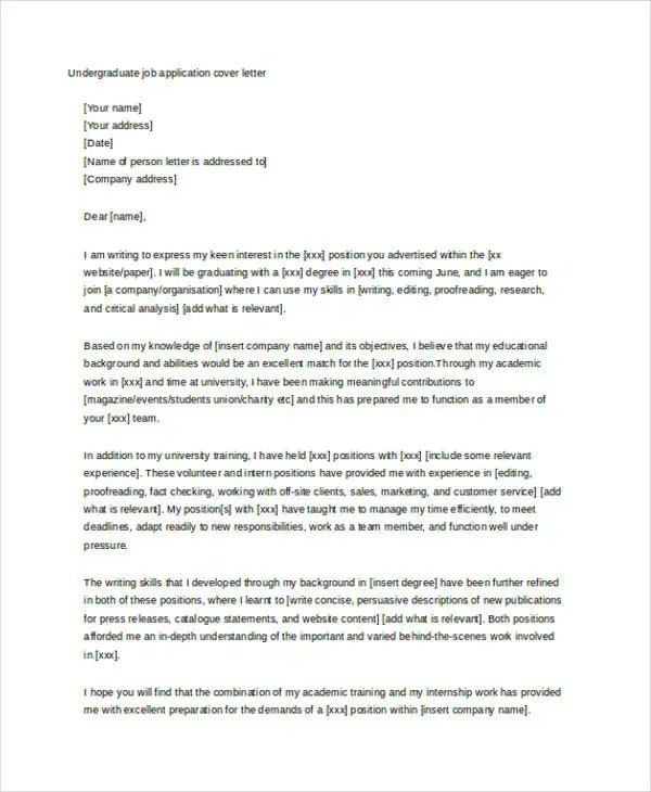 Cover Letter for Student - 10+ Free Word, PDF Format Download Free
