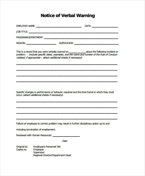 Verbal Warning Template Studyabroad Purdue Edu Details File - disciplinary memo template