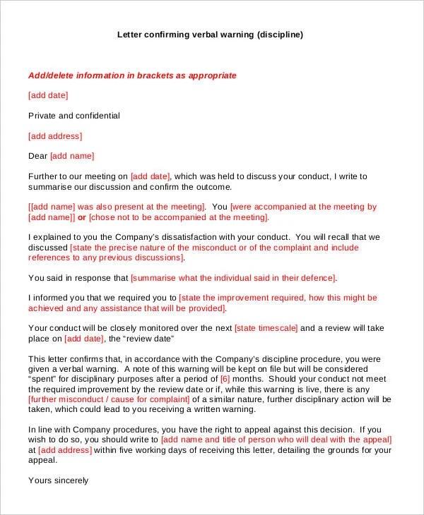 30+ Warning Letter Templates Free  Premium Templates