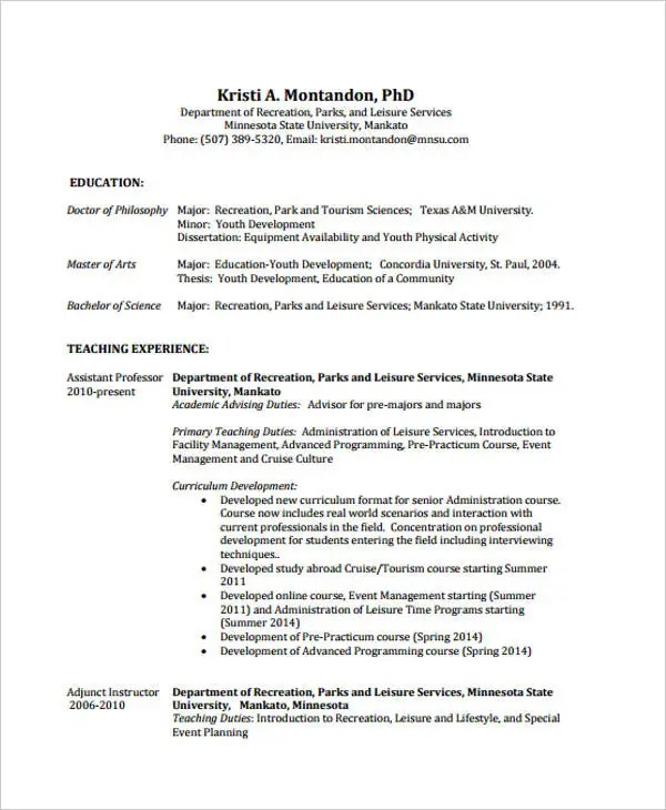 9+ Summer Job Resume Templates - PDF, DOC Free  Premium Templates - resume for summer job