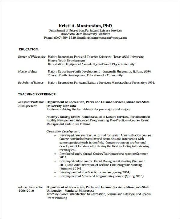 9+ Summer Job Resume Templates - PDF, DOC Free  Premium Templates