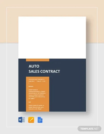 16+ Sale Contract Template - Pages, Word Free  Premium Templates