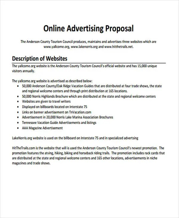 34+ Sample Proposal Templates Free  Premium Templates