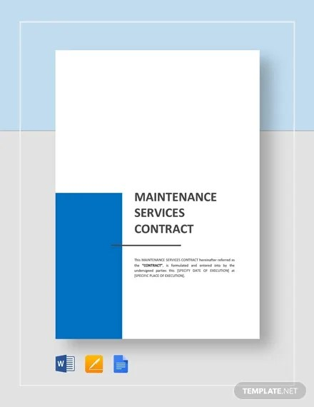 17+ Maintenance Contract Templates - Pages, Word, Docs Free