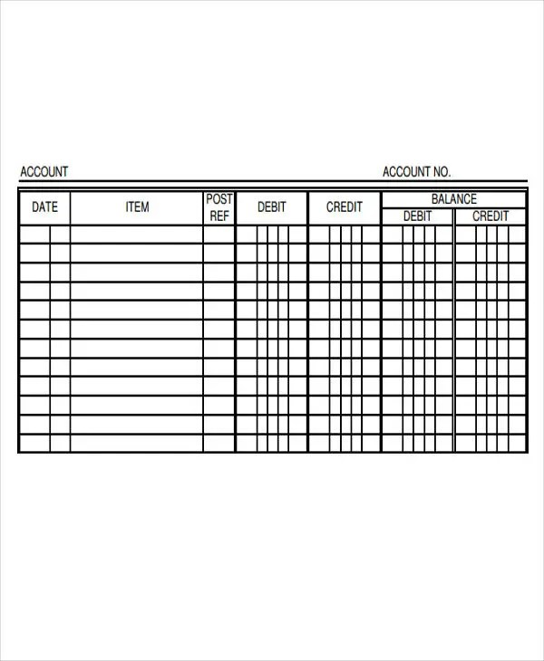 4+ Ledger Paper Templates - Free Samples, Examples, Format - ledger template free