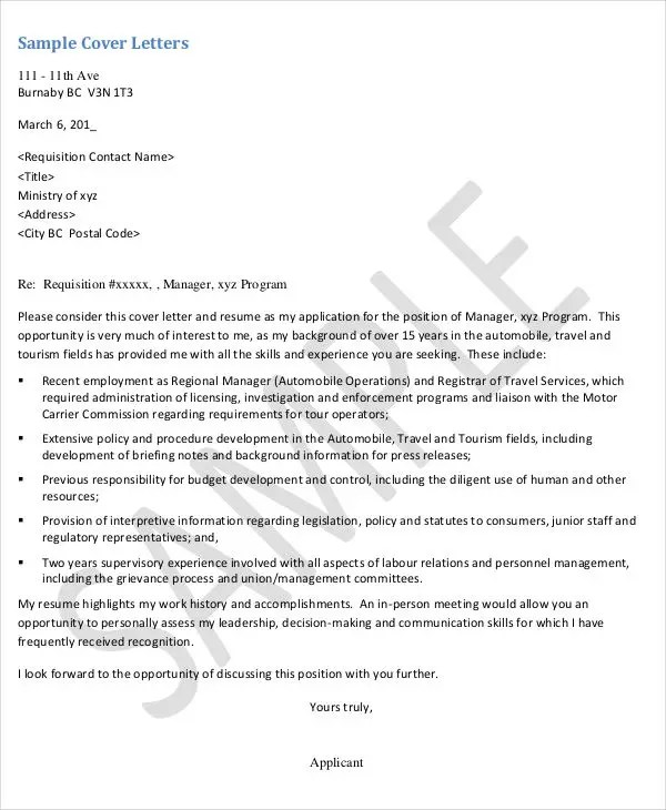 25+ Basic Administration Resumes Free \ Premium Templates - ministry cover letter