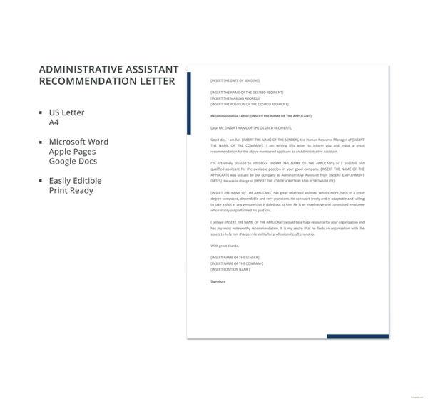 45+ Free Recommendation Letter Templates Free  Premium Templates