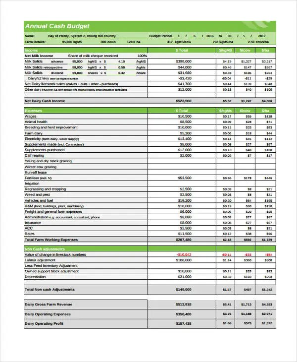 10 Cash Budget Templates - Free Sample,Example Format Download