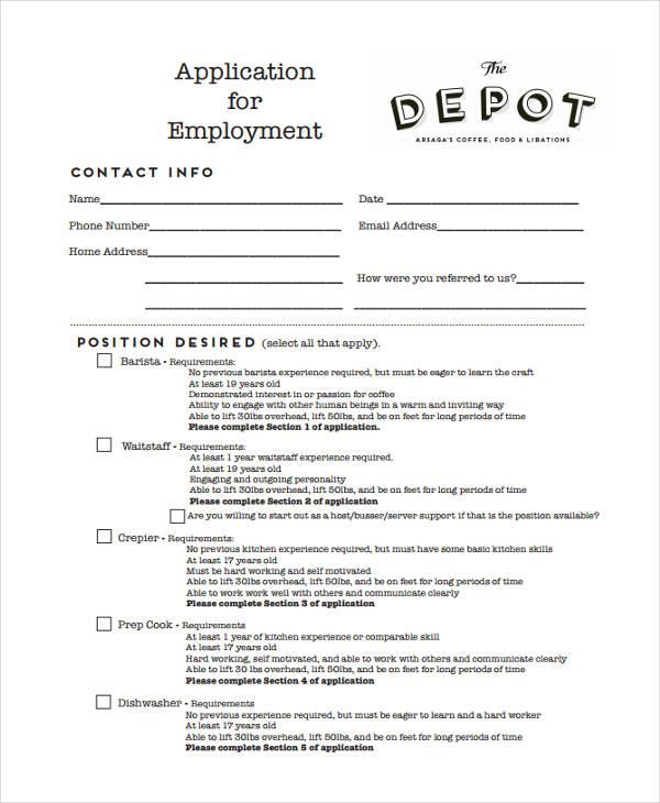 33+ Job Application Templates Free  Premium Templates