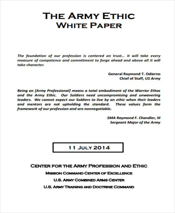 36 White Paper Examples Free  Premium Templates