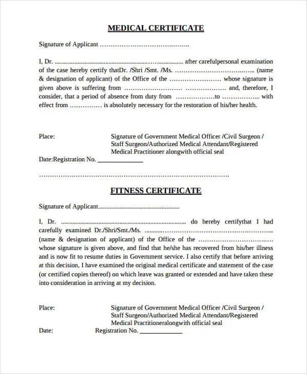 28+ Medical Certificate Templates in PDF Free  Premium Templates - medical certificate download