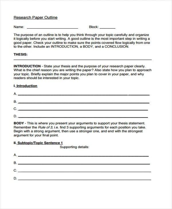 22 Research Paper Templates in PDF Free  Premium Templates