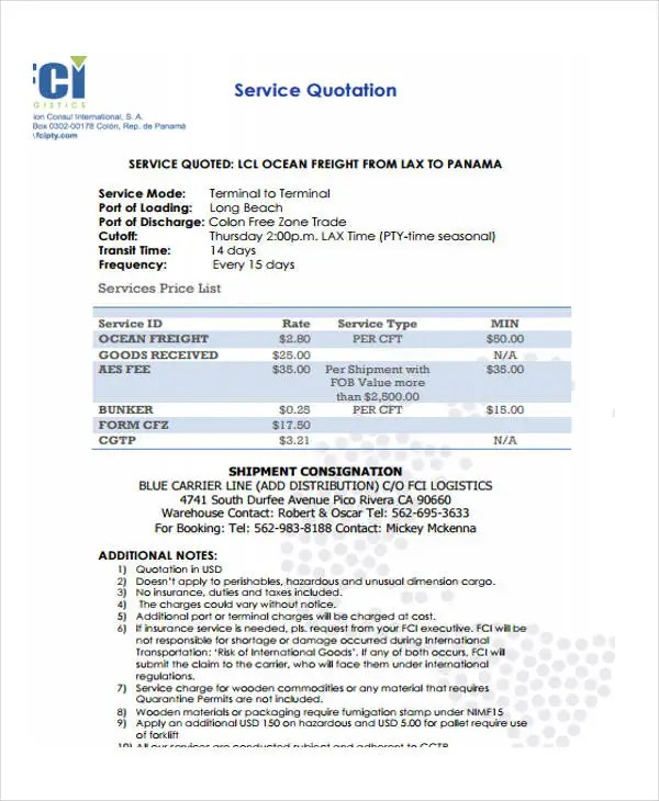 10+ Service Quotation Templates - Free Samples, Examples Format - service quotation