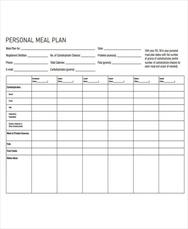10+ Diet Plan Templates - Free Sample, Example Format Download