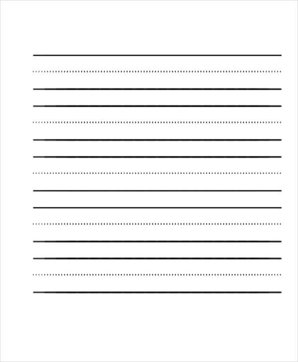 29+ Printable Lined Paper Templates Free  Premium Templates
