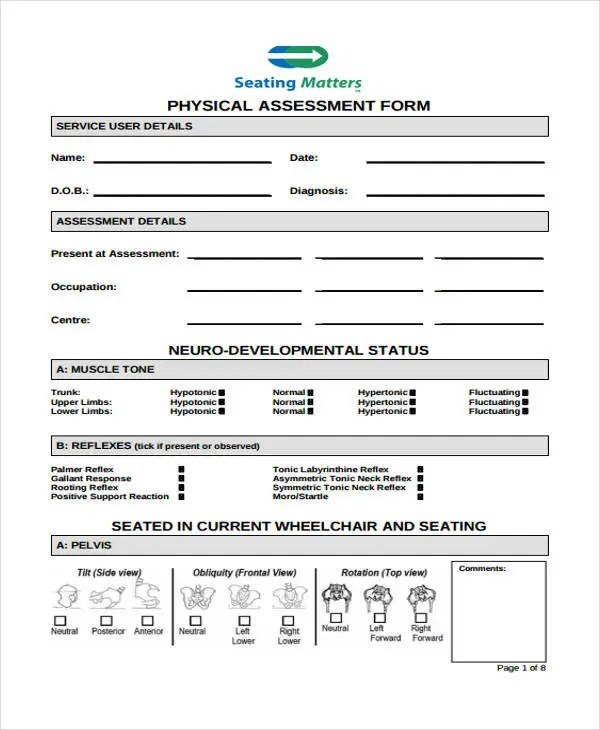 48+ Sample Assessment Forms Free  Premium Templates