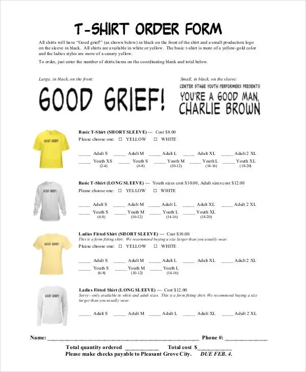 12+ T-Shirt Order Forms - Free Sample, Example Format Download