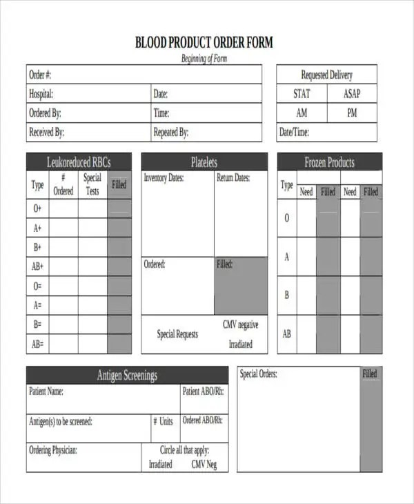 9+ Product Order Forms - Free Samples, Examples Format Download