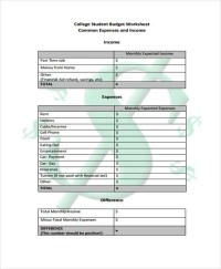 Student Budget Templates - 9+ Free PDF, Format Download ...