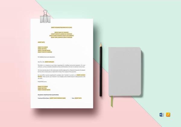 8+ Construction Quotation Templates - PDF, DOC Free  Premium