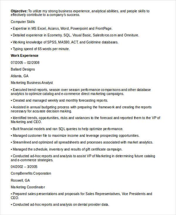 24+ Best Marketing Resume Templates - PDF, DOC Free  Premium