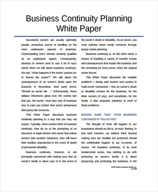 33+ White Paper Templates in PDF Free  Premium Templates