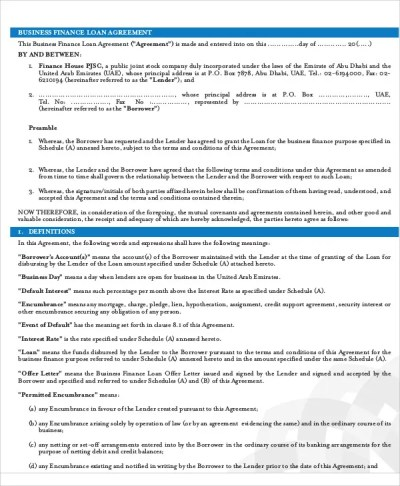 31+ Loan Agreement Templates - Word, PDF, Pages | Free & Premium Templates