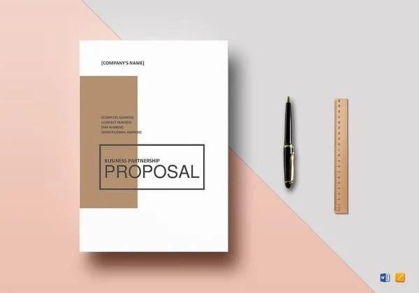 9+ Partnership Proposal Templates - Sample, Example Free  Premium - sample partnership proposal template