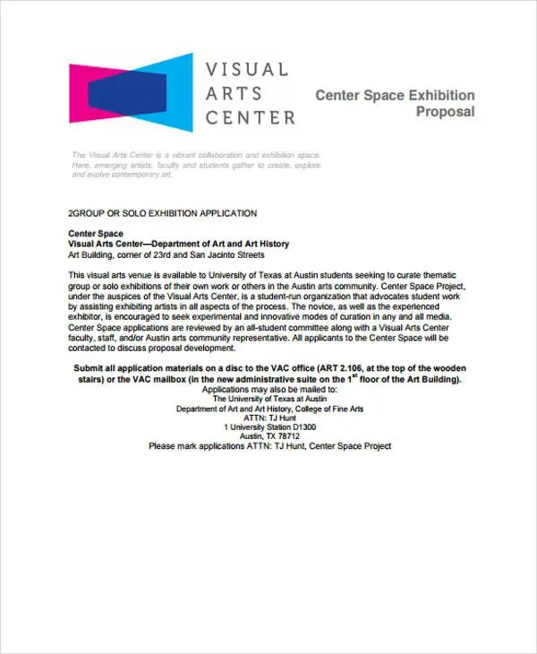 Exhibition Proposal Templates - 10+ Free Sample, Example Format