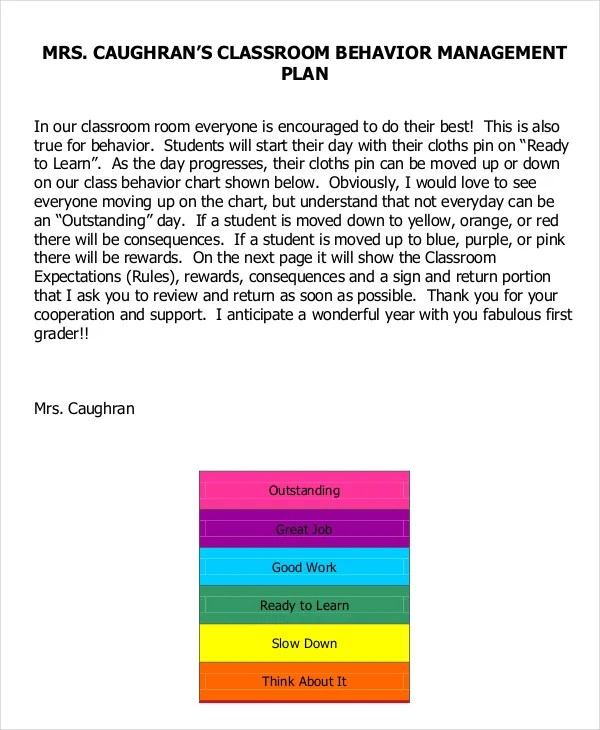 Enchanting Behavior Management Plan Composition - Resume Ideas - clroom management plan template
